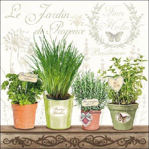 4 servilletas de papel para decoupage – 3 capas, 33 x 33 cm – Le Jardin de Provence (4 servilletas individuales para manualidades y arte de servilletas)