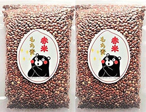 もち麦 赤米 W ブレンド 熊本県産 1kg( 500g × 2袋 ) 食物繊維 βグルカン ポリフェノール 真空パック 鮮度抜群 1k