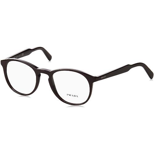 974a829adba Prada PR19SV Eyeglass Frames USF1O1-50 - Brown PR19SV-USF1O1-50