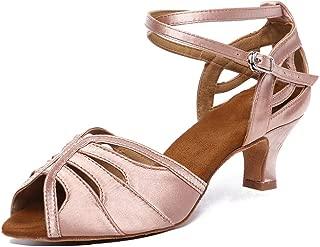 HXYOO Ballroom Dance Shoes for Women Salsa Latin 2