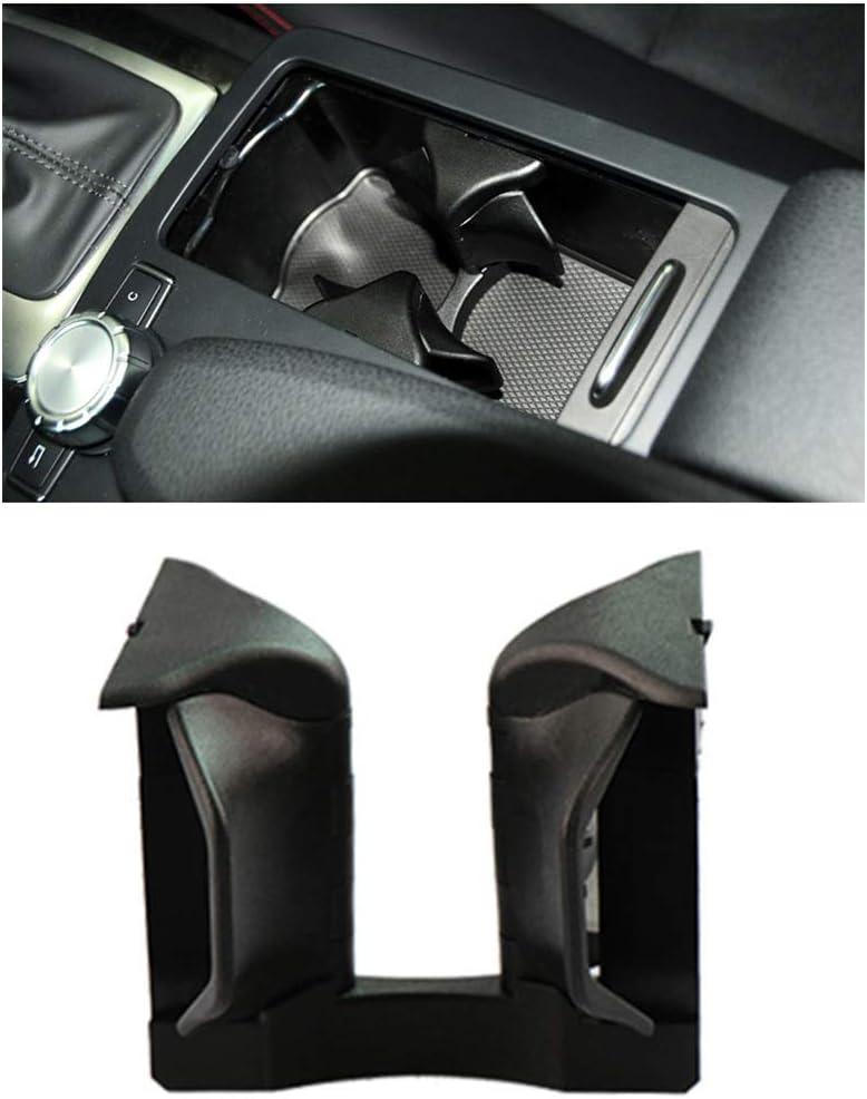 Asdomo Console centrale de voiture avec porte-gobelet pour Mercedes-Benz Classe C E GLK W204 W207 W212 X204