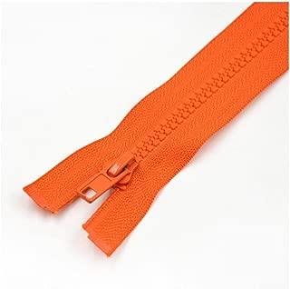 CHAHANG Resin Opening Zipper Women's Jacket Down Jacket Children's Zipper 40cm-70cm Multiple Colors to Choose from Zipper Head Accessories Detachable Zipper Clothes (Color : Orange, Size : 60cm)
