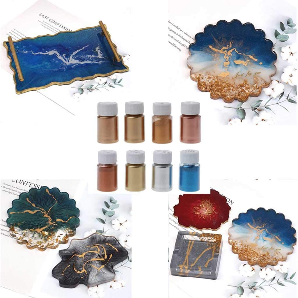 jiheousty Kupfer Metallic Farbstoff Pulver Harz Pigment Jewelescent Metall T/öne Glimmer Perle Pulver Pigment Farbe Epoxidharz Seifenherstellung