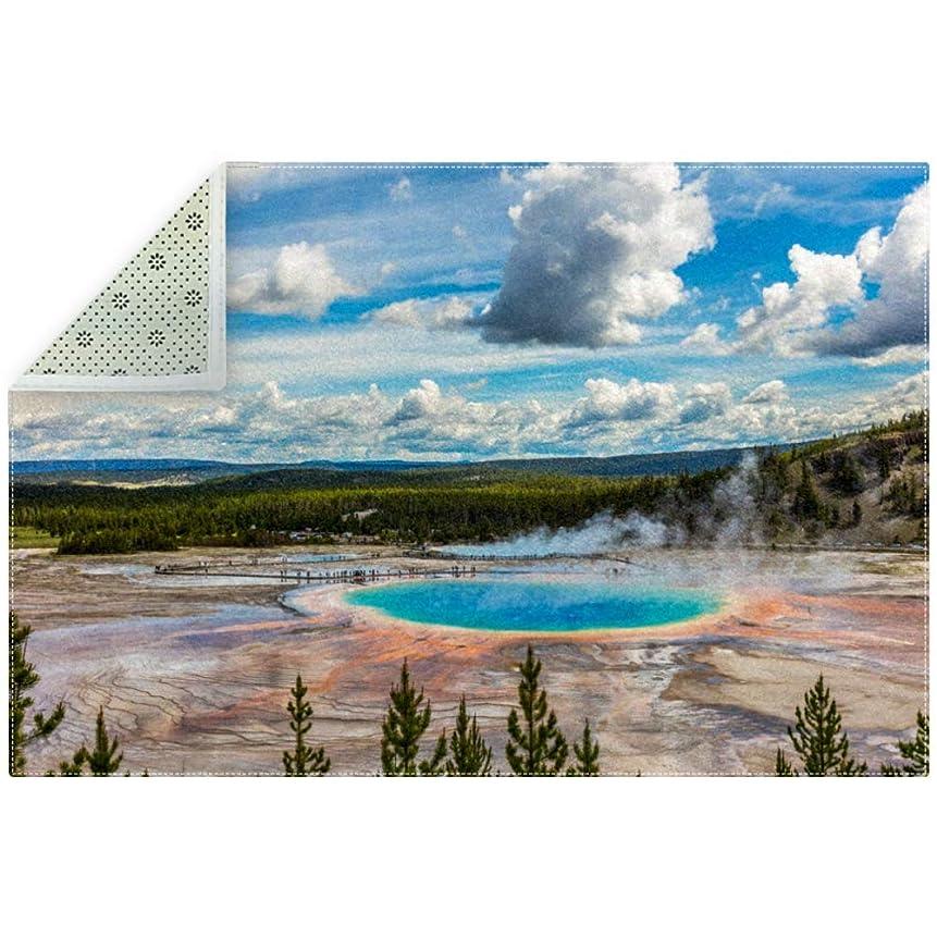 一定安息現在AyuStyle ラグ カーペット ラグマット 風景 旅行 自然 公園 雲 空 絨毯 マイクロファイバー 滑り止め 洗える ウォッシャブル ホットカーペット対応 フロアマット 200×150cm