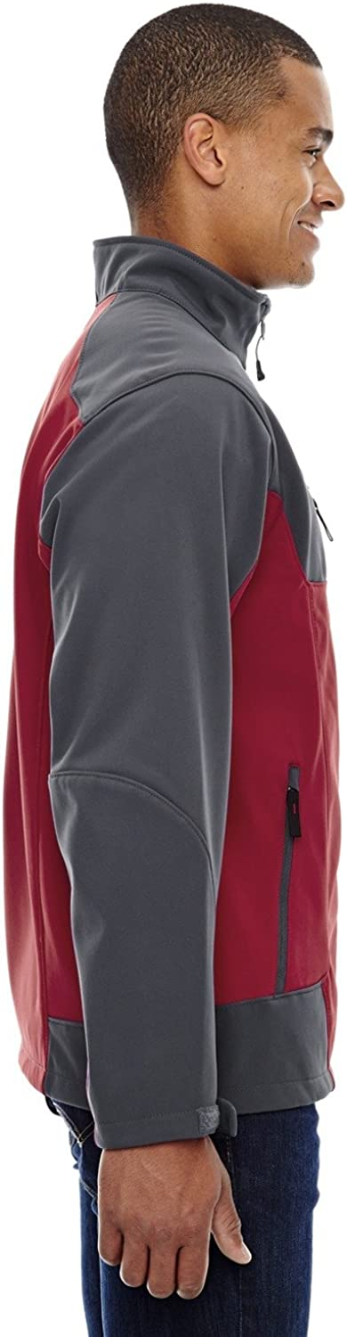 North End Mens Compass Color-Block Soft Shell Jacket (88156)