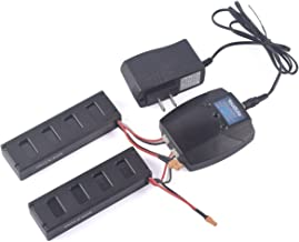 YouCute 2pcs 7.4V 1800mAh Battery and 1to2 charger for mjx B3 Bugs 3 RC quadcopter drone spare parts (2PCS 1800mAh batteries+charger)