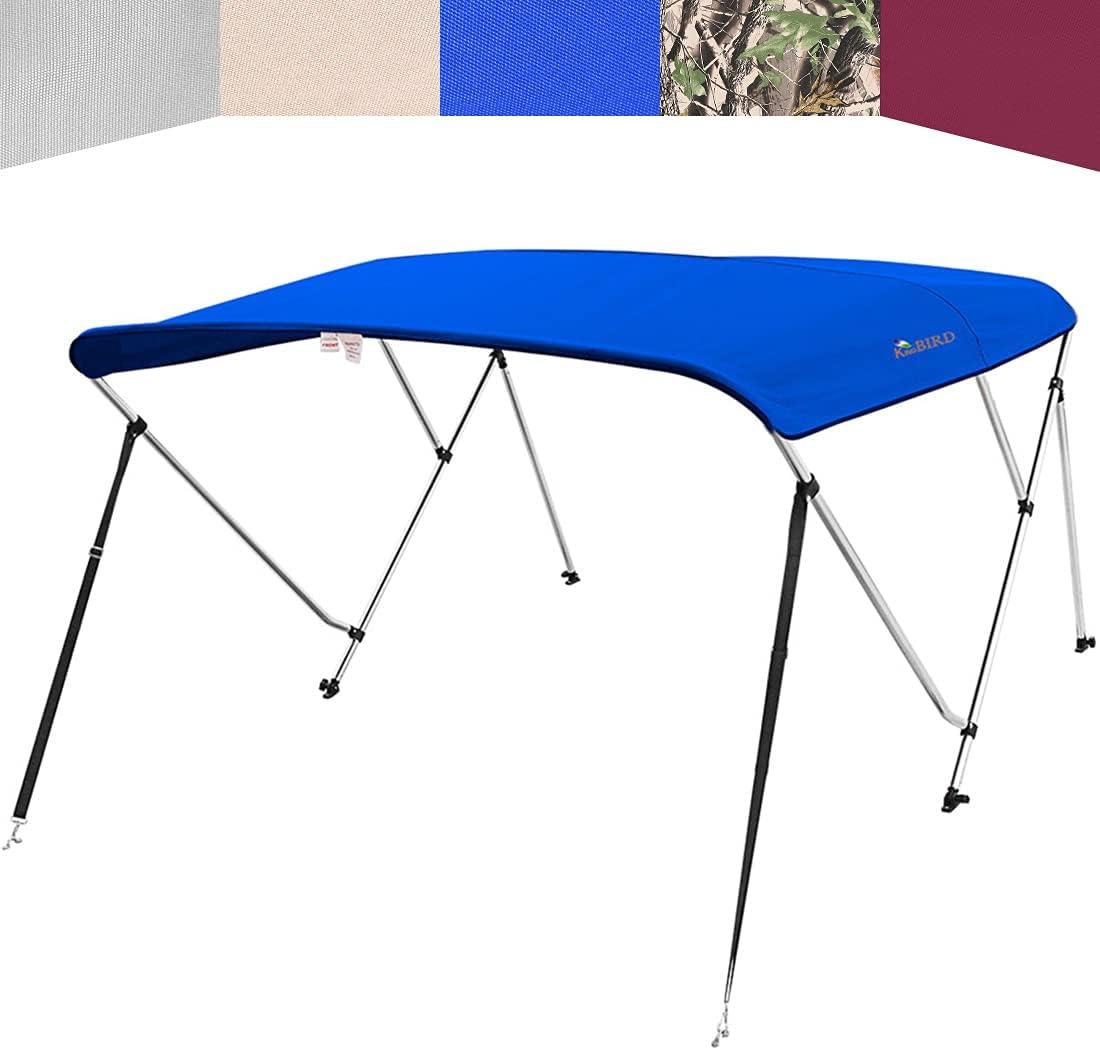 KING BIRD Quantity limited 3 Bow Bimini Top Sun Cheap mail order shopping Boat Cover Shade Waterproo Canopy
