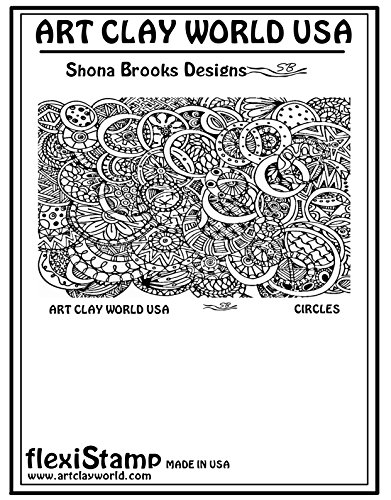FlexiStamps Texture Sheet Shona Brooks Circles Positive Design - 1 pc.