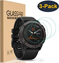 HEYUS [3 Pack] for Garmin Fenix 6s/6s Pro Screen Protector, 9H Hardness Scratch Resistant Tempered Glass Screen Protector Protective Film Cover for Garmin Fenix 6s/6s Pro