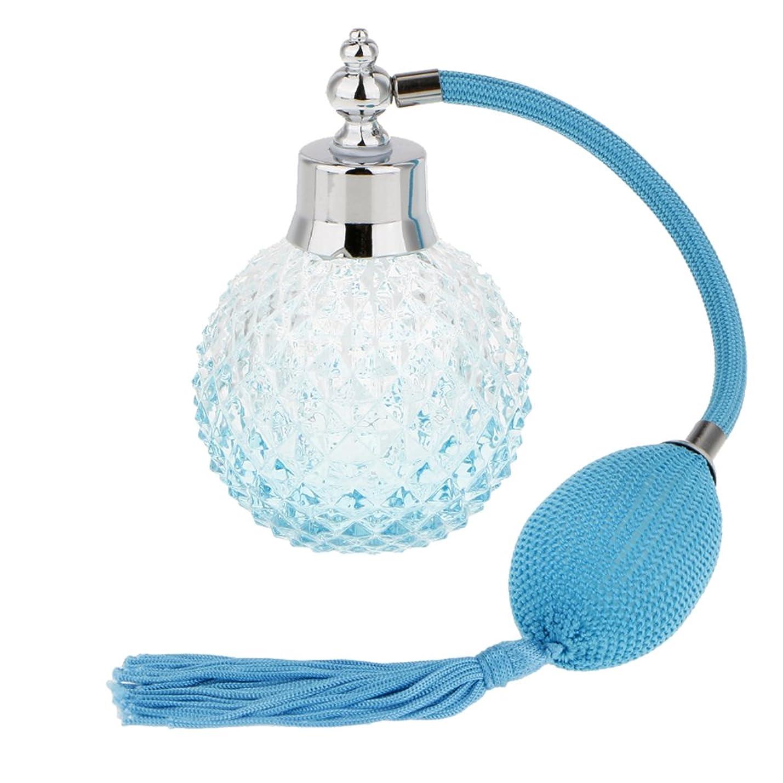 試してみる規定落ちた【ノーブランド品】 ガラス製 4色選ぶ ヴィンテージ  クリスタル  香水瓶  アトマイザー  詰め替え 飾り  ギフト - 青い
