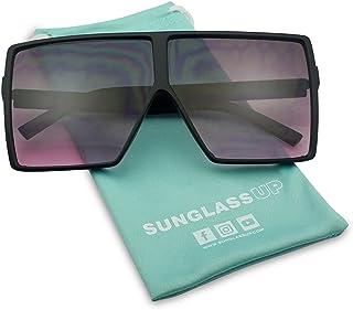65bad620311 Big XL Large Oversized Super Flat Top Square Two Tone Color Fashion  Sunglasses