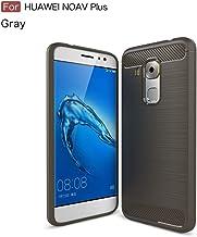 GELZU Huawei Nova Plus Case,Ultra Light Carbon Fiber Armor ShockProof Dropproof Brushed Silicone Grip Case For Huawei Nova Plus/Maimang 5 (Color : Gray)