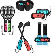 TwiHill Conjunto de acessórios esportivos somatossensoriais 10 em 1 adequado para Nintendo Switch, conjunto de taco de gol...