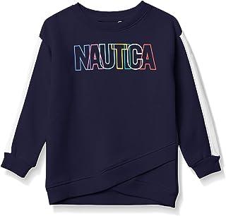 NAUTICA Girls' Long Sleeve Crewneck Sweatshirt