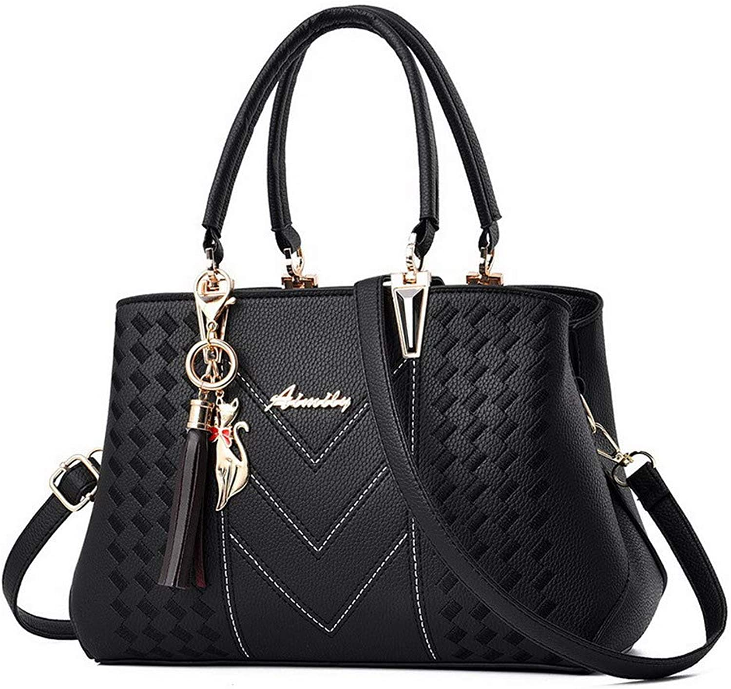 WeenFashion Women's Shopping Charms Pu Tote Bags Crossbody Bags,AMGBW182011