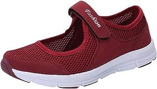 Zapatos Malla de Mujer de Velcro Deportivo de Calzado Casual Ligero Aire Libre y Deporte Transpirables Casual Zapatos Gimn...