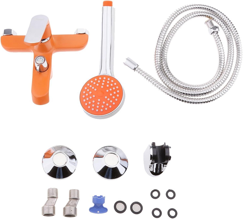 Sharplace Chrome Copper Bathroom Shower Taps Bath Shower Mixer Faucet Shower Head Sets