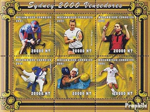 Prophila Collection Mosambik Michel.-No..: 1912-1917 Sheetlet 2001 ganadores Olimpia 2000 Sidney (Sellos para los coleccionistas) Juegos Olímpicos