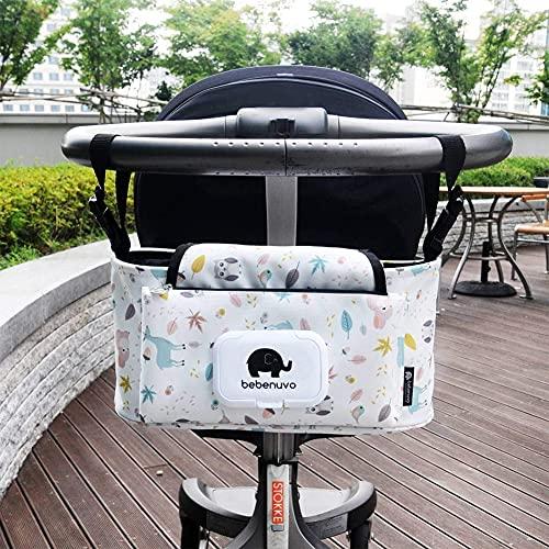 Bolsa organizadora universal para cochecito de bebé, bolsa de almacenamiento para cochecito de bebé, impermeable, gran capacidad, organizador para pañales, bolsa para colgar botellas, para cochecitos