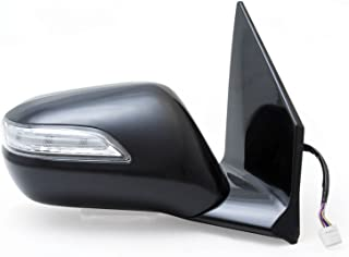 Fit System 63037H Acura MDX Passenger Side OE Style Heated Power Replacement Mirror with Turn Signal and Memory