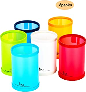 Colorful Pen Containers/Pen Holders Pencil Holder for Desk Inexpensive Office and School Supplies Office Organization Desktop Storage White Orange Green Blue red 6 Packs