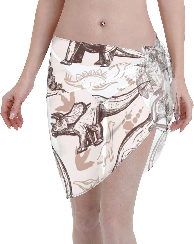 Women Short Sarongs Beach Wrap,Women's Spiral Galaxy Space Sheer Bikini Wraps Chiffon Cover Ups for Swimwe