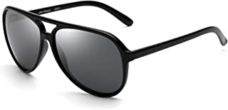 JIM HALO Polarized Aviator Sunglasses Men Women Oversize Plastic Driving Glasses