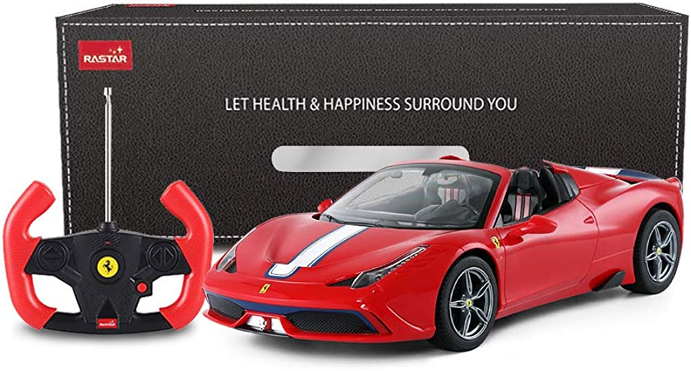 Rastar,ferrari 458 special in scala 1:14,auto telecomandata,macchina giocattolo cabriolet, apertura e chiusura RCM-1002_Red