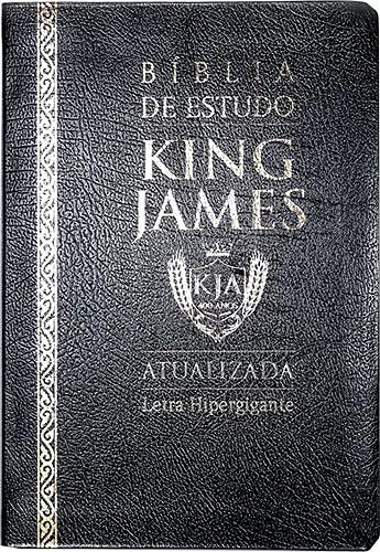 Bíblia de Estudo King James (Atualizada) - Letra Hipergigante (Preta)