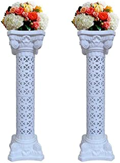 Elegant Wedding Roman Column Set Pillars Decoration Party Flower Pot Columns Decor Roman Columns for Weddings(1 Pair)