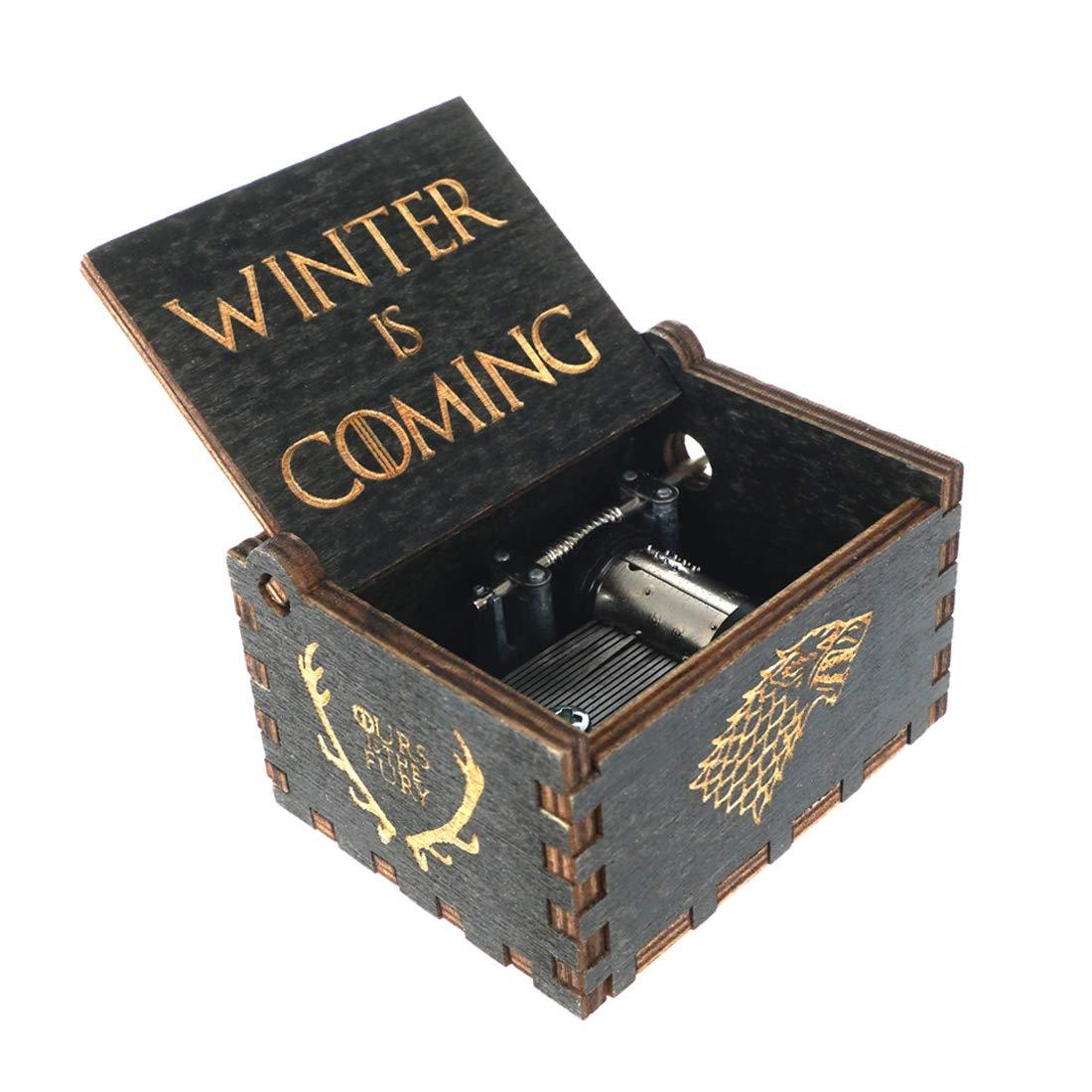 Cosplaystudio - Caja de música de madera con melodía de Juego de Tronos, regalo ideal para los verdaderos fans: Amazon.es: Hogar