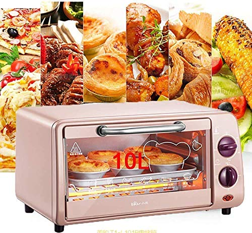 NLRHH 10l Multi-Funktions-Elektro-Ofen, Backzutaten Kleiner Roaster, Temperaturregelung Mini-Kuchen Ofen, Zeit und Temperatur B. Peng