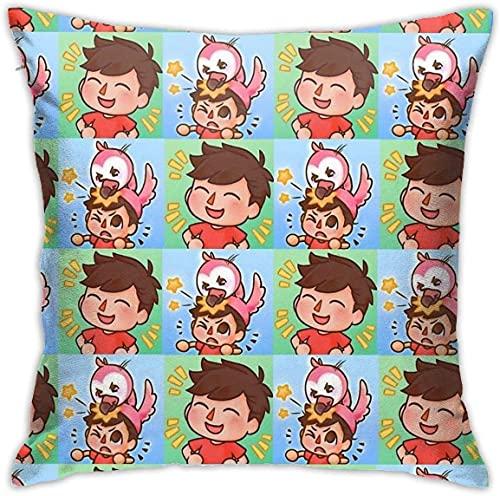 'N/A' Albertsstuff + Flamingo - Funda de almohada decorativa para sofá o sofá cuadrado (45,7 x 45,7 cm)