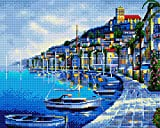 GMMH Diamond Completo bedeckung con Marco de Madera Painting Juego de 40x 50Diamante Pintura Bordado Mano Manualidades mosaicos Flores Cesta Casa Am Bach (gj425)