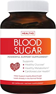 Blood Sugar Support Supplement - Helps with Blood Glucose & Weight Loss - Natural Herb Health Level Formula - 60 Capsule P...