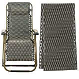 Gravity Chair Replacement Fabric, Zero Gravity Lounge Chair Recliners Repair Tool Cloth Part for Pool Side Outdoor Patio Yard Beach Pool Lawn Camping Reclining Mesh Canvas for Anti-Gravity Chair…