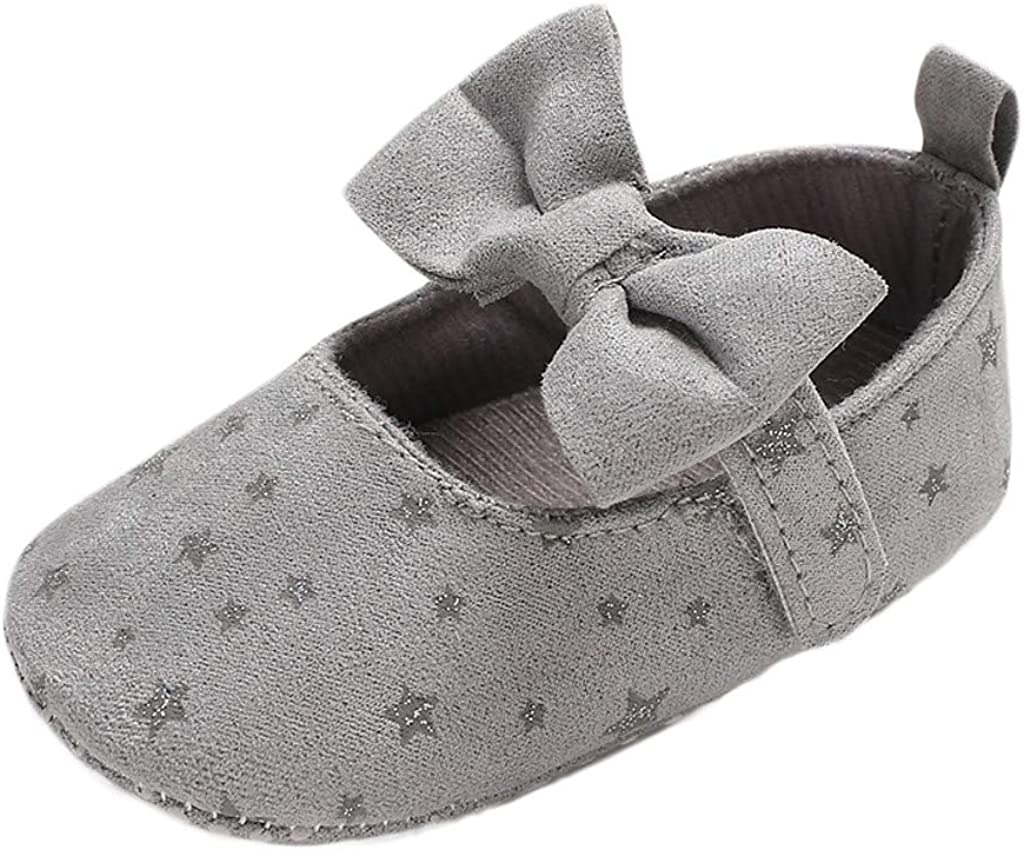 Baby Girls Bow Stars First Walkers Boots Ranking Max 76% OFF integrated 1st place Toddler Kid Newborn Pre
