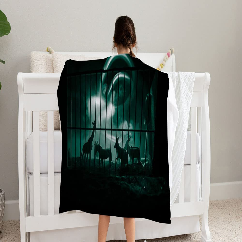 GANTEE Group Animals Inside Cage Blanket Miniature New mail order Recommended Su Baby Wild