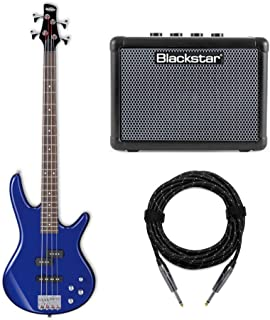 $259 Get Ibanez GIO Electric Bass Guitar (GSR200) with FLY3 Bass Amp and Knox Guitar Cable (3 Items)