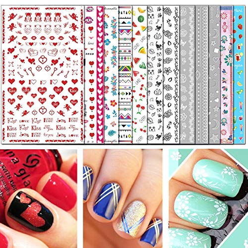 TailaiMei Nail Decals Stickers, 1600+ Pcs Self-adhesive Tips DIY Nail covid 19 (Animal Design Shop Stickers coronavirus)