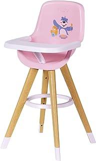 BABY born Hoge stoel Accessoire - Voor het fantasierijke spelen met de pop- Comfortabele stoel, Stevige tafel om te eten &...