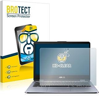 BROTECT Protector Pantalla Compatible con ASUS VivoBook Flip 14 TP410UF Protector Transparente Anti-Huellas