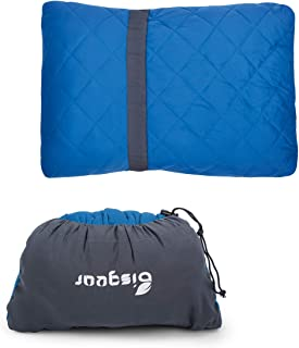 Bisgear Camping Pillow Compressible Memory Foam Pillows - Perfect for Backpacking,Airplanes Travel, Road Trips,Hammock Bed & Sleeping Bag - Ultra Light & Super Compact & Comfortable