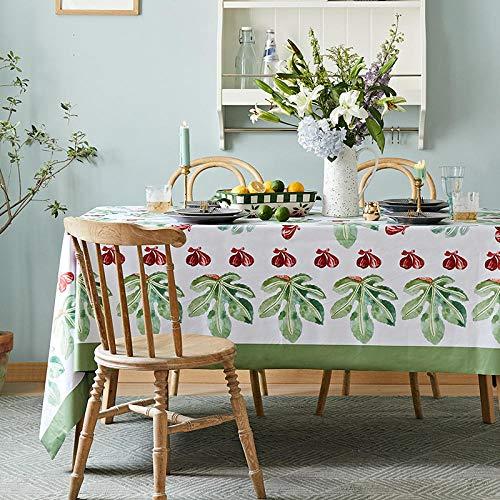 LIUJUAN Bordsduk amerikansk vattentät och oljesäker engångsduk tyg nordisk rektangulär bordsduk kaffebordsduk bordsmatta-S_140 x 140 cm/matbord för 2–4 personer