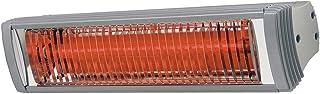 Tansun Rio IP calefactor de infrarrojos 1,5kW resistente a la intemperie, Plata