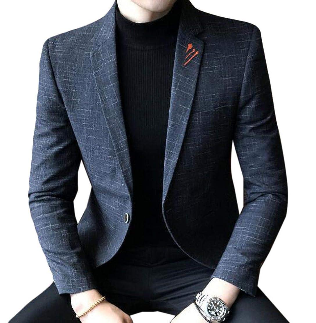 Fubotevic Mens Big & Tall Lapel Slim Fit 1 Button Casual Sportcoat Blazer Jacket