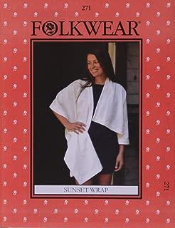 Folkwear Sunset Wrap #271 One-Arm Wrap Shawl Sewing Pattern (Pattern Only) folkwear271