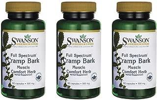 Swanson Full-Spectrum Cramp Bark 500 mg 60 Caps 3 Pack