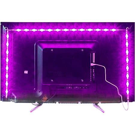 MY LAMP Led TV Hintergrundbeleuchtung,2M USB Led Beleuchtung Hintergrundbeleuchtung Fernseher USB für 40 bis 60 Zoll HDTV,TV-Bildschirm und PC-Monitor,Led Strip.MEHRWEG