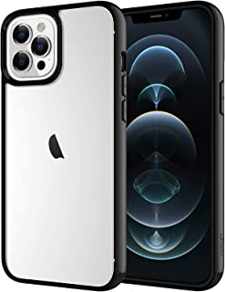 JETech Case for iPhone 12 Pro Max 6.7-Inch, Shockproof Bumper Cover, Anti-Scratch Clear Back (Black)